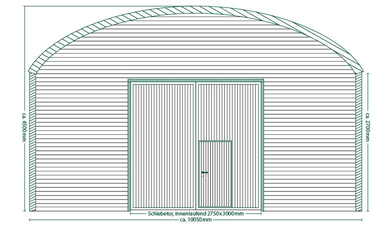 Runddachhalle Typ V10-2.5