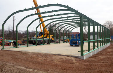 Konstruktion für Bogenhallen