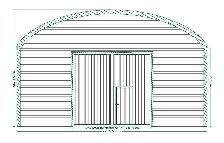 Runddachhalle Typ V10/3.8