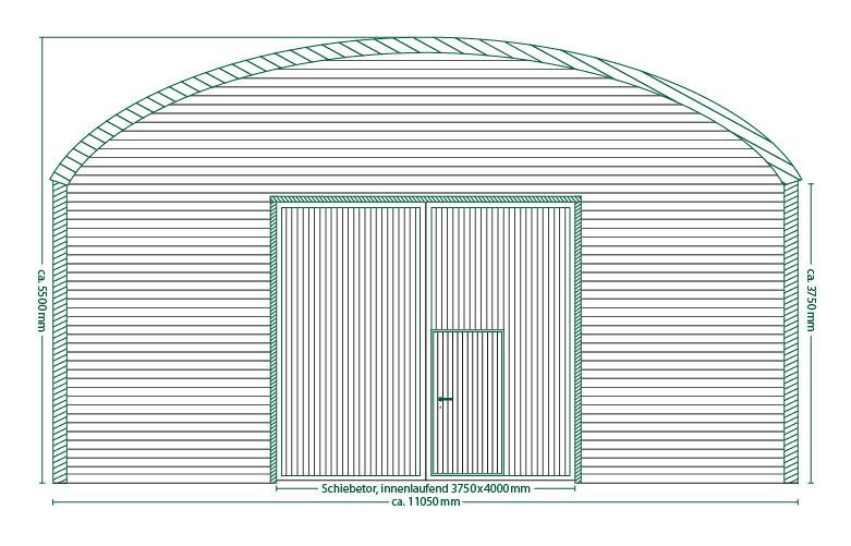 Runddachhalle Typ V11/3.8