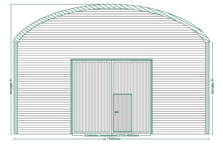 Runddachhalle Typ V11/5.0