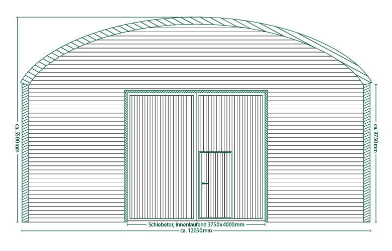 Runddachhalle Typ V12/3.8
