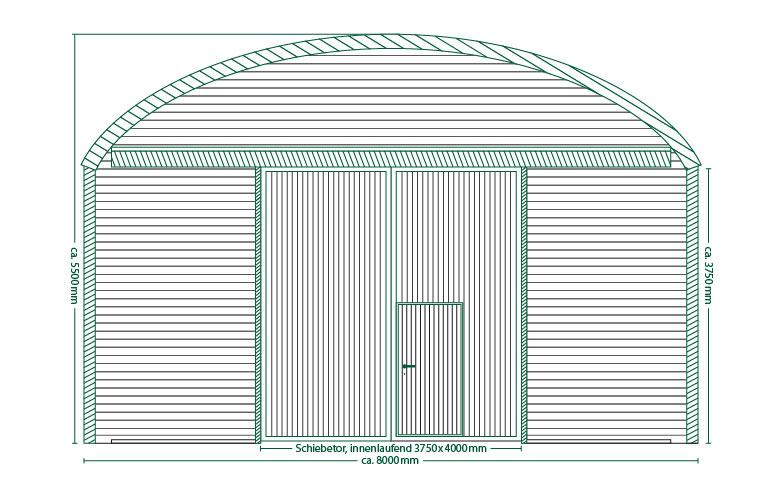 Runddachhalle V8/3.8